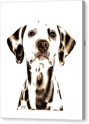 Fire Fighter's Best Friend Canvas Print by Sheryl Unwin