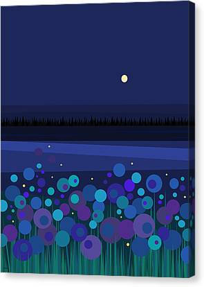 Fire Flies Canvas Print by Val Arie