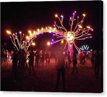 Electric Fire Garden Burning Man 2009 Canvas Print by Zen WildKitty