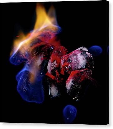 Canvas Print featuring the photograph Fire, Ice And Water by Rico Besserdich