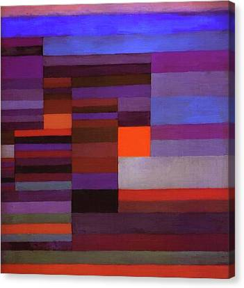 Fire In The Evening Canvas Print by Paul Klee