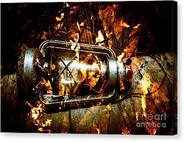 Fire In The Hen House Canvas Print