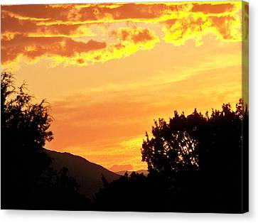 Fire In The Sky 1 Canvas Print by Brian  Commerford