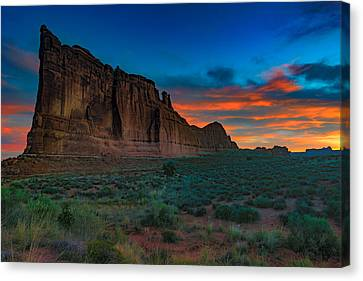 Fire In The Sky At The Tower Of Babel Canvas Print