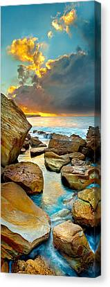 Fire In The Sky Canvas Print by Az Jackson