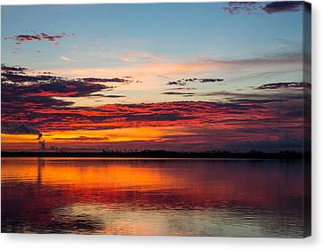 Fire In The Sky Canvas Print by Carol Youorski