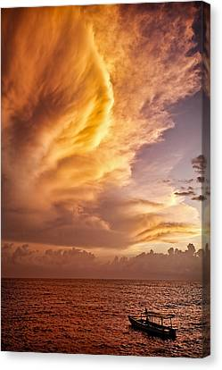 Fire In The Sky Canvas Print by Dave Bowman