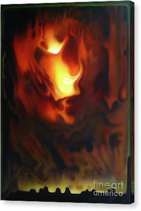 Fire In The Sky Canvas Print by Jurek Zamoyski