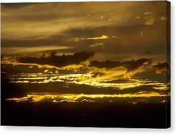 Fire In The Sky Canvas Print by Lynard Stroud