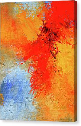 Canvas Print featuring the painting Fire In The Sky by Nancy Merkle