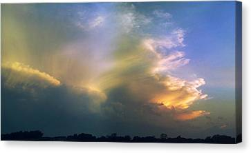 Canvas Print featuring the photograph Fire In The Sky by Rod Seel
