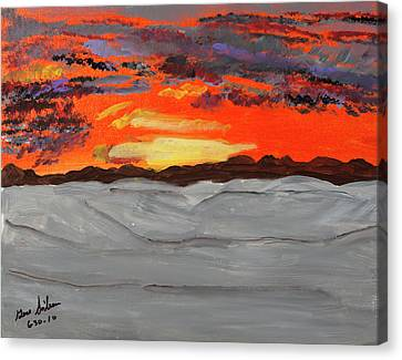 Fire In The Sky Canvas Print by Swabby Soileau