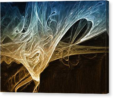Fire In The Soul Canvas Print by Mark Denham