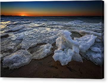 Fire Island Icy Shores Canvas Print by Rick Berk