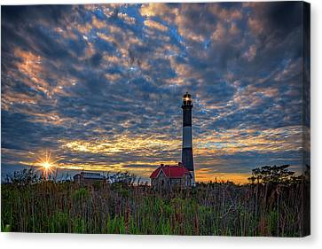 Fire Island Lighthouse At Sunset Canvas Print by Rick Berk