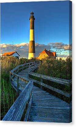 Fire Island Lighthouse Before Sunset Canvas Print by Jim Dohms