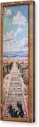 Fire Island Walkway To The Beach Canvas Print by Bonnie Siracusa