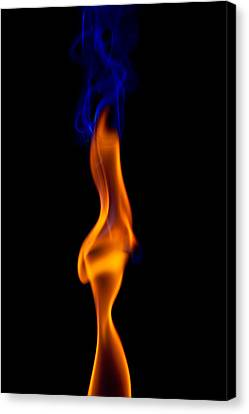 Canvas Print featuring the photograph Fire Lady by Gert Lavsen