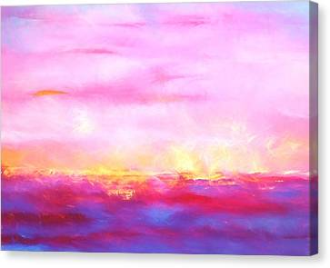 Fire Lake Canvas Print by Dan Sproul