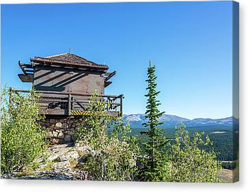 High Park Fire Canvas Print - Fire Lookout Building by Jess Kraft