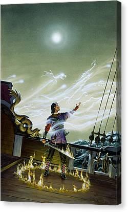 Atlantis Canvas Print - Fire Lord by Richard Hescox