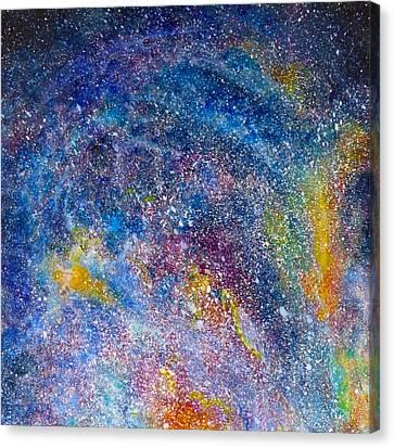 Fire Nebula #4 Canvas Print by Adrienne Martino