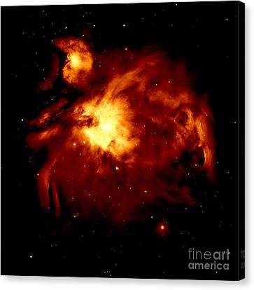 Fire Nebula Canvas Print by Johari Smith