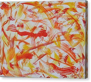 Fire Nymphs Canvas Print by Sandra Winiasz
