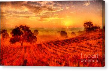 Fire Of A New Day Canvas Print by Edward Fielding