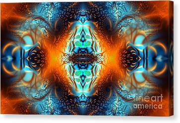 Swirling Desires Canvas Print - Fire Of Desire by Ian Mitchell