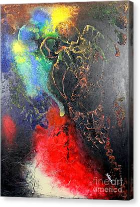 Fire Of Passion Canvas Print by Farzali Babekhan