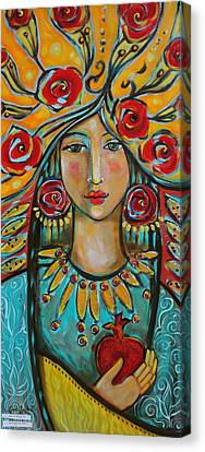 Fire Of The Spirit Canvas Print by Shiloh Sophia McCloud