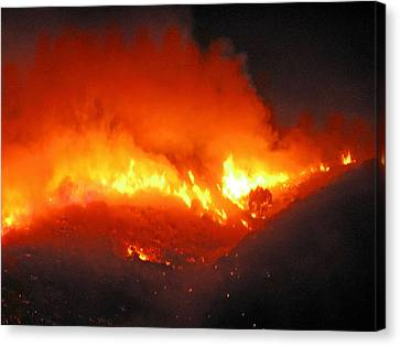 Fire On Signal Hill Canvas Print by Michael Durst
