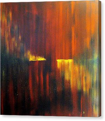 Fire On Water Canvas Print by David Hatton