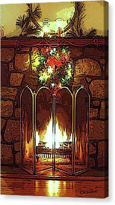 Fire Place Canvas Print by Kenneth Lambert