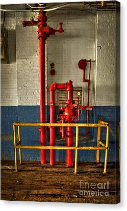 Fire Proof The Mary Leila Cotton Mill 1899 Canvas Print by Reid Callaway