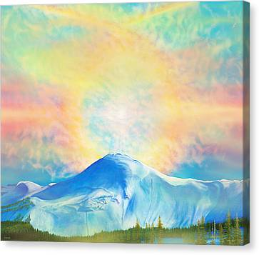 Fire Rainbow Over Alberta Peak Wolf Creek Colorado Canvas Print
