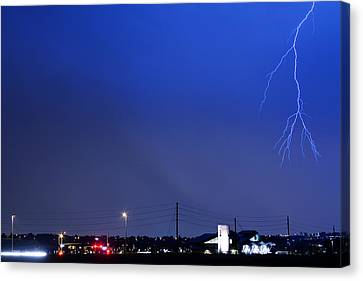 The Lightning Man Canvas Print - Fire Rescue Station 67  Lightning Thunderstorm 2 by James BO  Insogna