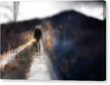 Fire Road Canvas Print by Gray  Artus