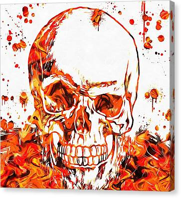 Fire Skull Canvas Print by Dan Sproul