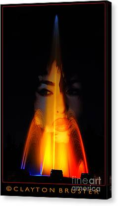 Fire Spirit Canvas Print by Clayton Bruster