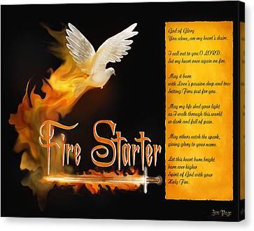 Fire Starter Poem Canvas Print