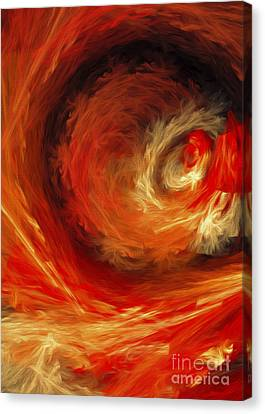 Fire Storm Abstract Canvas Print by Andee Design