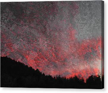 Fire Sunset Canvas Print by Dorothy Berry-Lound
