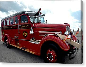 Fire Truck Selfridge Michigan Canvas Print