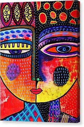 Fire Volcano Goddess Canvas Print by Sandra Silberzweig