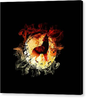 Fire Wolf Canvas Print