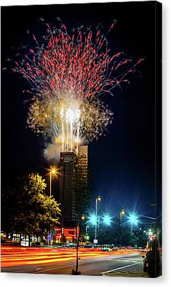 Fire Works In Fort Wayne Canvas Print