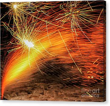 Fire Works Canvas Print by Patricia Hofmeester