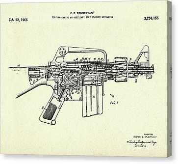 Firearm Having An Auxiliary Bolt Closure Mechanism-1966 Canvas Print by Pablo Romero